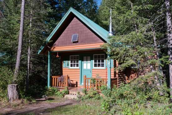 A rustic cabin in the Cross River Wilderness Centre